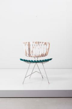 Arthur Umanoff Wood Slat and Iron Low Lounge Chair by Arthur Umanoff for Raymor US 1950s - 1238889