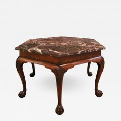 Artisan Crafted Claw Foot Table with Marble Top 19th Century - 1125665