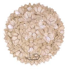 Artisan Flower Chandelier with Translucent Sea Shells 1970s - 1962973