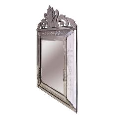 Artisan French Mirror With Reverse Etched Design 1950s - 1441631