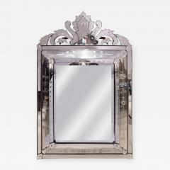 Artisan French Mirror With Reverse Etched Design 1950s - 1446428
