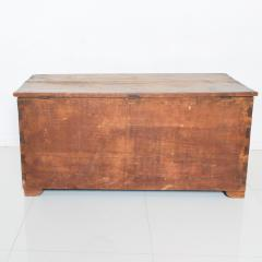 Artisan Hand Carved Blanket Chest in Solid Wood with Relief Detail 1920s - 2023766