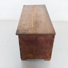 Artisan Hand Carved Blanket Chest in Solid Wood with Relief Detail 1920s - 2023767