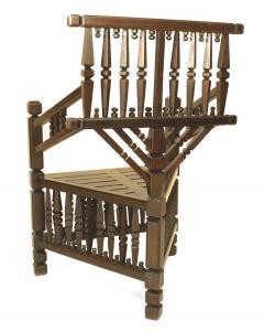 Arts Crafts Dark Oak Arm Chair - 1224870