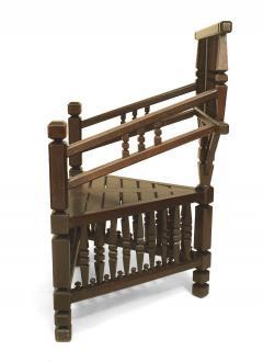 Arts Crafts Dark Oak Arm Chair - 1224872