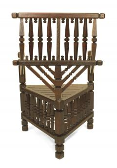 Arts Crafts Dark Oak Arm Chair - 1224873