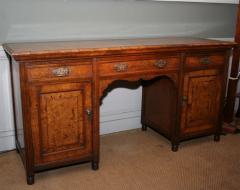 Arts Crafts Highly Figured Pollard Oak English Sideboard - 263964