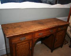 Arts Crafts Highly Figured Pollard Oak English Sideboard - 263968
