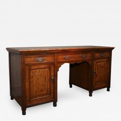 Arts Crafts Highly Figured Pollard Oak English Sideboard - 264371