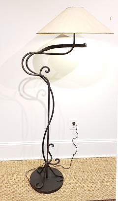 Arts and Crafts Hand Wrought Iron Floor Lamp - 1758839