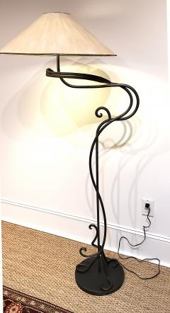 Arts and Crafts Hand Wrought Iron Floor Lamp - 1758843