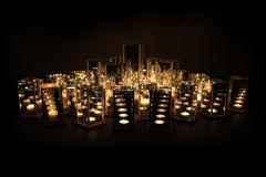 Arturo Erbsman Original 12 Candleholders Set Kaleido Arturo Erbsman - 771397