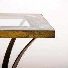 Arturo Pani Arturo Pani Side Table Eglomis Glass Bronze 1950s Elegant Flair - 2090086