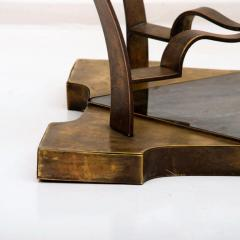 Arturo Pani Arturo Pani Side Table Eglomis Glass Bronze 1950s Elegant Flair - 2090087