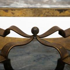 Arturo Pani Arturo Pani Side Table Eglomis Glass Bronze 1950s Elegant Flair - 2090090