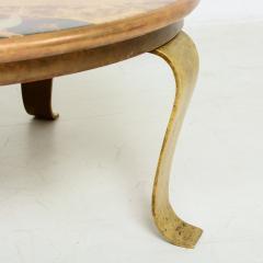 Arturo Pani Arturo Pani for Muller of Mexico Regency Round Coffee Table Brass Marble 1960s - 1512820