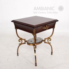 Arturo Pani Fabulous French Side Tables Eglomise Bronze Mahogany Nightstands Arturo Pani - 1542712