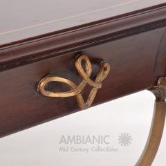 Arturo Pani Fabulous French Side Tables Eglomise Bronze Mahogany Nightstands Arturo Pani - 1542713