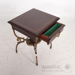 Arturo Pani Fabulous French Side Tables Eglomise Bronze Mahogany Nightstands Arturo Pani - 1542714