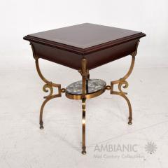 Arturo Pani Fabulous French Side Tables Eglomise Bronze Mahogany Nightstands Arturo Pani - 1542715