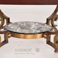 Arturo Pani Fabulous French Side Tables Eglomise Bronze Mahogany Nightstands Arturo Pani - 1542716