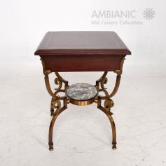 Arturo Pani Fabulous French Side Tables Eglomise Bronze Mahogany Nightstands Arturo Pani - 1542717