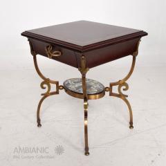 Arturo Pani Fabulous French Side Tables Eglomise Bronze Mahogany Nightstands Arturo Pani - 1542718