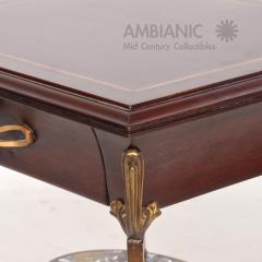 Arturo Pani Fabulous French Side Tables Eglomise Bronze Mahogany Nightstands Arturo Pani - 1542719