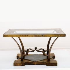 Arturo Pani Mexican Modern Arturo Pani Brass Eglomise Sculptural SIDE ACCENT Table 1950s - 1506998