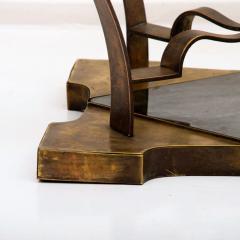 Arturo Pani Mexican Modern Arturo Pani Brass Eglomise Sculptural SIDE ACCENT Table 1950s - 1507001