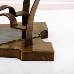 Arturo Pani Mexican Modern Arturo Pani Brass Eglomise Sculptural SIDE ACCENT Table 1950s - 1507003