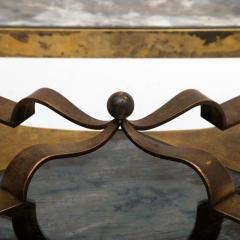 Arturo Pani Mexican Modern Arturo Pani Brass Eglomise Sculptural SIDE ACCENT Table 1950s - 1507008