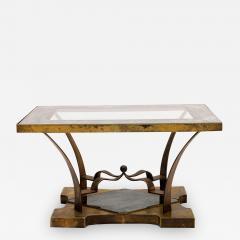 Arturo Pani Mexican Modern Arturo Pani Brass Eglomise Sculptural SIDE ACCENT Table 1950s - 1509132