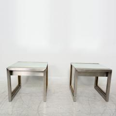 Arturo Pani Mexican Modern Stainless Brass Side Tables 1960s - 1371451