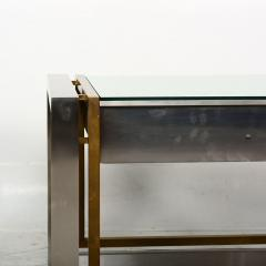 Arturo Pani Mexican Modern Stainless Brass Side Tables 1960s - 1371452