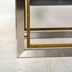 Arturo Pani Mexican Modern Stainless Brass Side Tables 1960s - 1371454