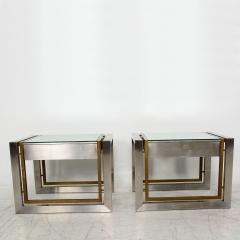 Arturo Pani Mexican Modern Stainless Brass Side Tables 1960s - 1371457