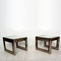 Arturo Pani Mexican Modern Stainless Brass Side Tables 1960s - 1371458