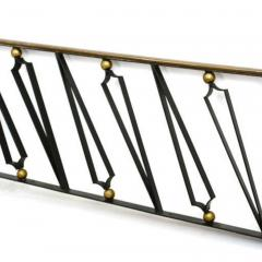 Arturo Pani Mexican Modernist Iron Staircase Handrail by Talleres Chacon for Arturo Pani - 1446307