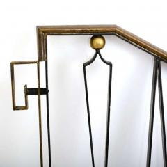 Arturo Pani Mexican Modernist Iron Staircase Handrail by Talleres Chacon for Arturo Pani - 1446309