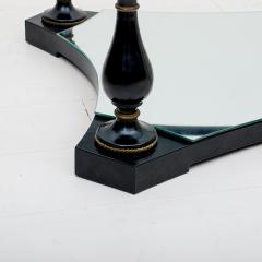 Arturo Pani Midcentury Neoclassical Black Iron Brass and Glass Coffee Table by Arturo Pani - 1507344