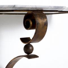Arturo Pani Neoclassical Mexican Modernist French Iron Marble Wall Console Attr Arturo Pani - 1180947