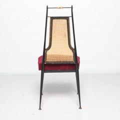 Arturo Pani Neoclassical Ruby Red Velvet Dining Chairs Set of 4 Arturo Pani Mexico 1950s - 1600242