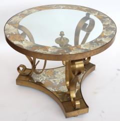 Arturo Pani Pair of 1950s Brass Side Tables by Arturo Pani with Glass Top - 328093