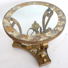 Arturo Pani Pair of 1950s Brass Side Tables by Arturo Pani with Glass Top - 328098