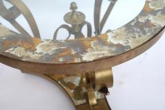 Arturo Pani Pair of 1950s Brass Side Tables by Arturo Pani with Glass Top - 328099