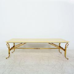 Arturo Pani Parchment and Brass Coffee Table Hollywood Regency - 1369149