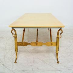Arturo Pani Parchment and Brass Coffee Table Hollywood Regency - 1369151