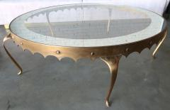 Arturo Pani Scalloped Edge 1950s Brass Coffee Table Attributed to Arturo Pani - 288945