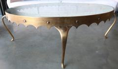 Arturo Pani Scalloped Edge 1950s Brass Coffee Table Attributed to Arturo Pani - 288947